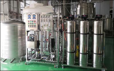 0.5吨不锈钢双级反渗透纯水设备